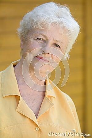 Elderly Care Royalty Free Elderly Woman Portrait