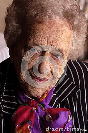 Portrait of an elderly women