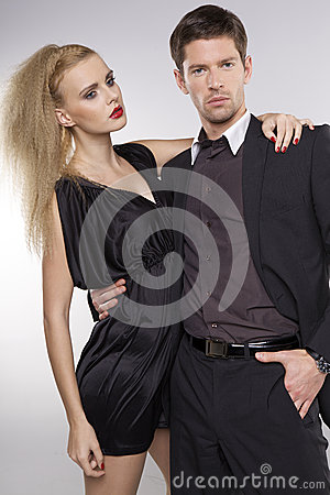 Portrait of elegant couple