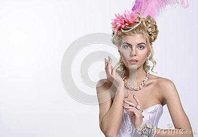 Portrait of the elegant woman