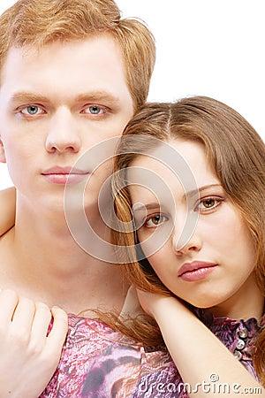 Free Portrait Enamoured Couple Royalty Free Stock Photography - 13596577