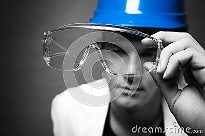 Portrait of engineer man