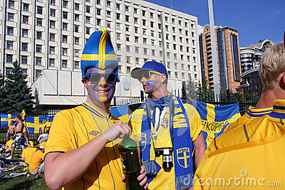 Portrait of the fans from Sweden on EURO-2012 Editorial Image