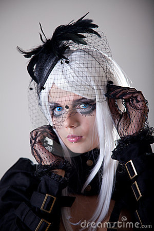 Portrait of fantasy girl with creative make-up