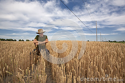 Portrait of Farmer in Field