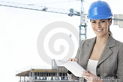Portrait of female architect