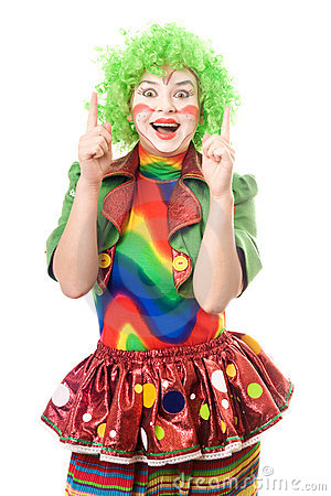 Portrait of female clown