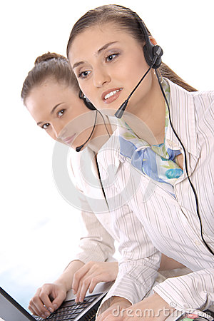 Portrait of female customer service representative