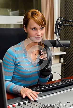Portrait of female dj