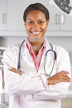 Portrait Of Female Doctor In Doctor s Office