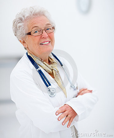 Portrait of an female doctor standing