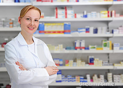 Portrait of a female pharmacist