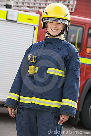 Portrait of a firefighter standing