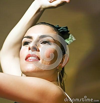 Portrait of flamenco dancer Editorial Stock Photo
