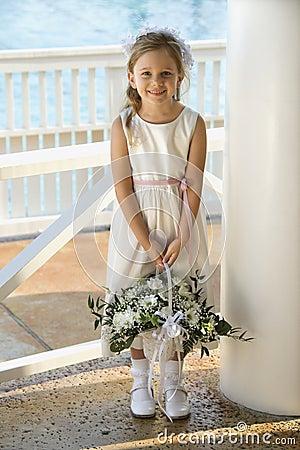 Portrait of flowergirl.