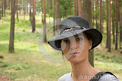 Portrait in forest