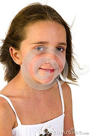 Portrait of a friendly girl
