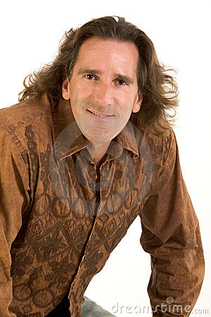 Portrait of friendly man