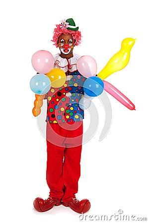 Portrait funny clown