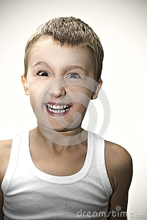 Portrait of funny kid