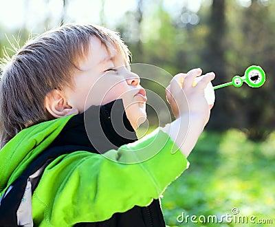 Portrait of funny little boy