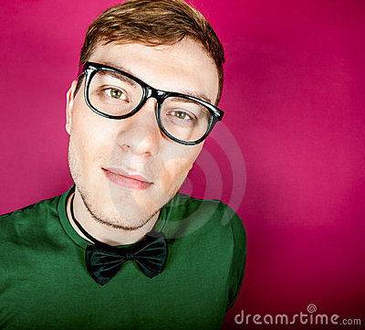 Portrait funny man