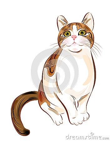 Portrait of  ginger tabby cat