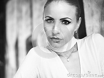 Portrait of a girl in bw