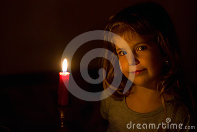Portrait of the girl with a candle