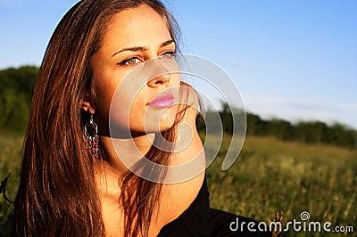Portrait of girl enjoying summer
