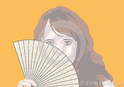 Portrait of the girl with fan