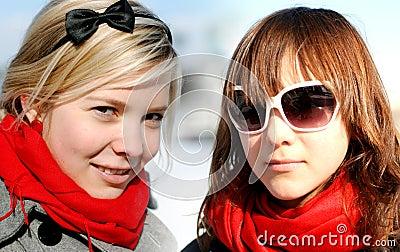 Portrait of girl-friends;