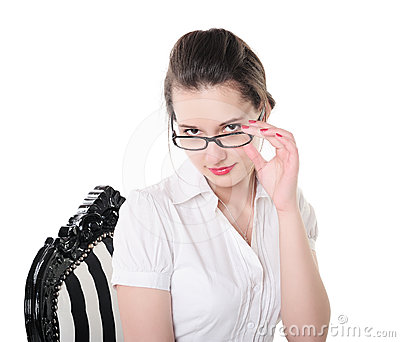 Portrait of a girl in glasses