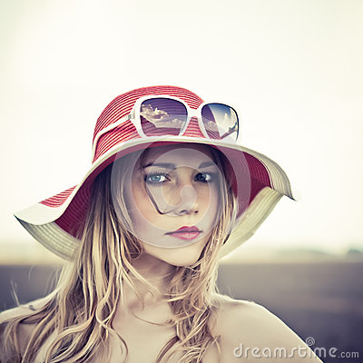 portrait of a girl in a hat