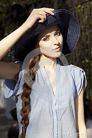 Portrait of girl in the hat