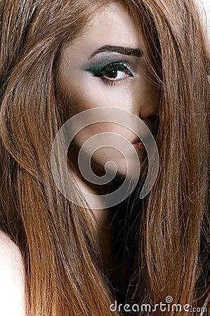 Portrait of girl with long fair hair