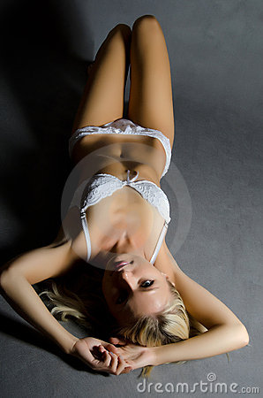 Portrait of the girl in underwear