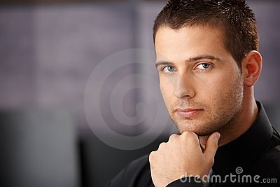 Portrait of goodlooking young businessman
