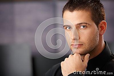 Portrait of goodlooking young businessman