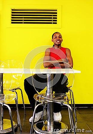 Portrait of a gorgeous young black man