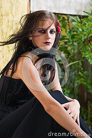 Portrait of a Goth Girl