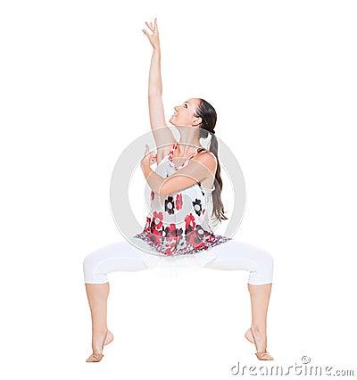 Portrait of graceful dancer