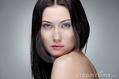 Portrait of graceful young woman