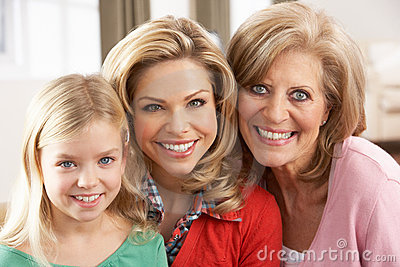 Portrait Of Grandmother,Mother And Daughter