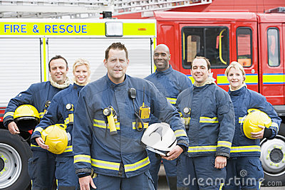 Portrait of a group of firefighters