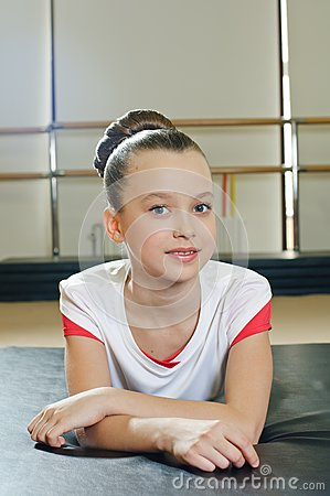 Portrait of gymnast girl
