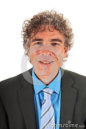 Portrait handsome adult man
