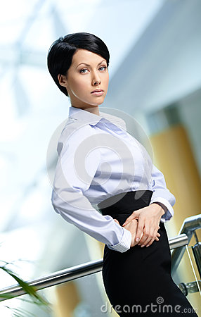Portrait of a handsome businesswoman