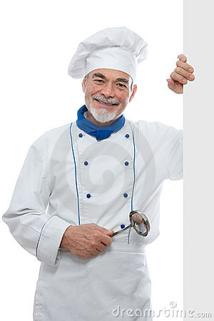 Portrait of a handsome chef