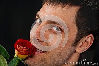 Portrait of handsome man.